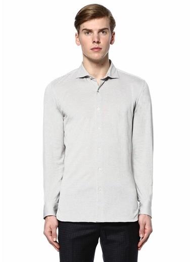 Paul Taylor Uzun Kollu Gömlek Gri